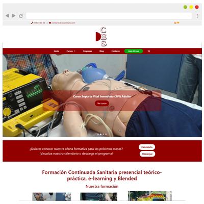 Diseño web CES sanitaris