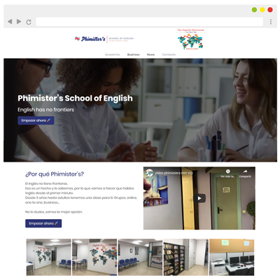 Diseño web Phimister's