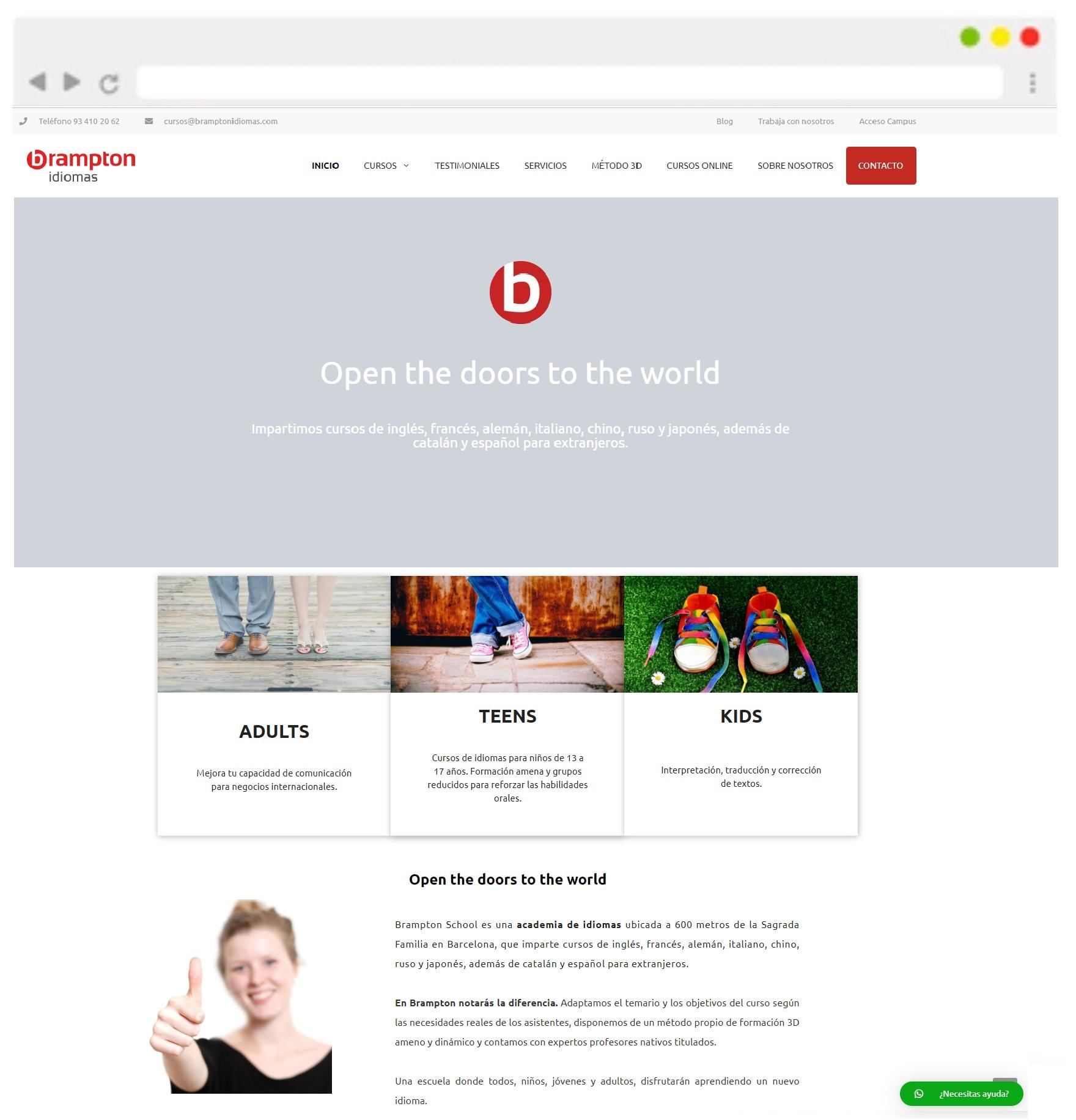 Brampton idiomas web elearning