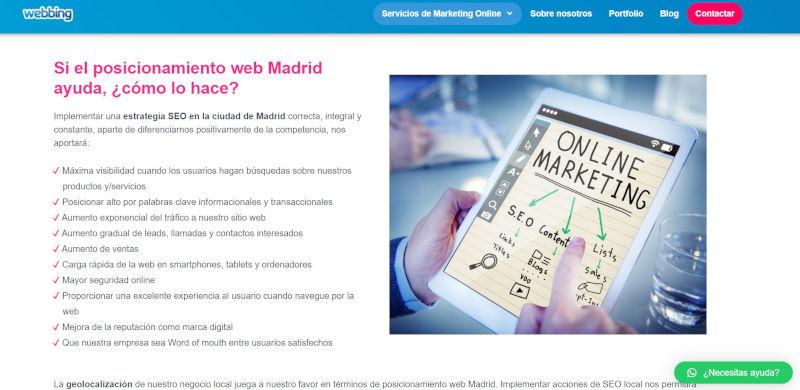 webbing online madrid